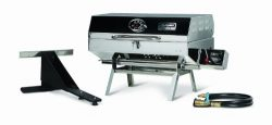 Camco Olympian 5500 Stainless Steel Portable Grill, Connects To Low Pressure Supply On RV, Inclu ...