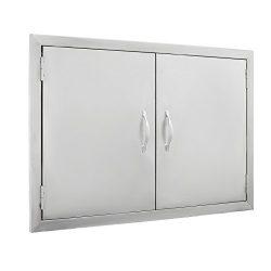 FoodKing BBQ Island Door 30.5″W x21″H 304 Stainless Door Double Access BBQ Doors Rus ...