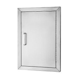 VEVOR BBQ Access Door 304 Stainless Steel BBQ Island Door Single Vertical Door Right-Hinged Acce ...