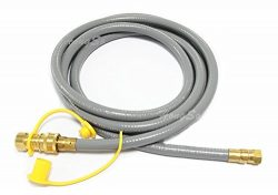 Hongso HRTA1-3 Natural Gas Quick Connect Hose with Quick Connect Fitting for outdoor grill propa ...