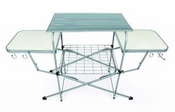Camco Deluxe Folding Grill Table, Great for Picnics, Tailgating, Camping, RVing and Backyards; Q ...