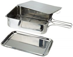 ExcelSteel Stainless Steel Stovetop Smoker,  14 1/2″ X 10 1/2″  X 4″, Silver