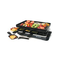 Swissmar KF-77040 Classic 8-Person Raclette Party Grill with Reversible Cast Iron Grill Plate/Cr ...