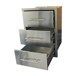 BBQ ISLAND TRIPLE DRAWER/ New StyleElegant 304 Grade Stainless SteelDOUBLE WALLED These Drawers  ...