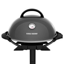 George Foreman GFO3320GM Indoor/Outdoor Gun Metal Electric Grill