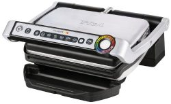 T-fal GC702 OptiGrill Stainless Steel Indoor Electric Grill with Removable and Dishwasher Safe p ...