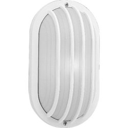 Polycarbonate Oval Incandescent Outdoor Lantern with Grill