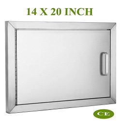 Mophorn BBQ Access Door 304 Stainless Steel BBQ Island Door Single Horizontal Door Left-Hinged A ...