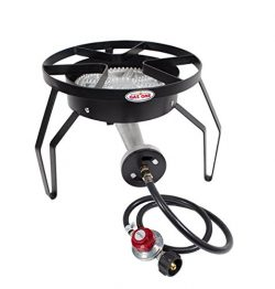 GAS ONE 200,000 BTU Single Burner Outdoor Stove Propane Gas Cooker with Adjustable 0-20PSI CSA L ...