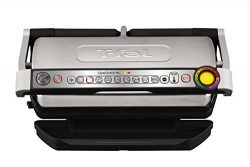 T-fal GC722D53 1800W OptiGrill XL Stainless Steel Large Indoor Electric Grill with Removable and ...