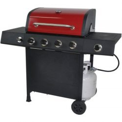 RevoAce 4-Burner LP Gas Grill with Side Burner, Red Sedona (Red Sedona)