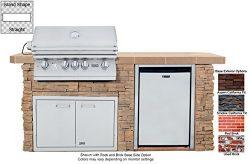 90106 Sensational Q L75000 Premium Stainless Steel Grill Tile Countertop Double Doors GFCI Elect ...