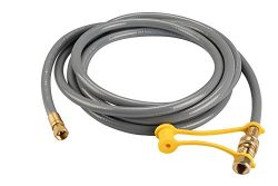 KIBOW 12Ft Low Pressure Natural Gas and Propane Gas Hose Assembly-3/8″ Female Pipe Thread  ...