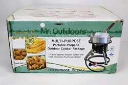 10 qt. Aluminum Fry Pan Multi-Purpose Outdoor Cooker Package