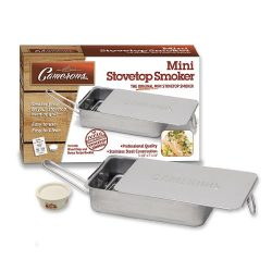 Stovetop Smoker – The Original Camerons Gourmet Mini Stainless Steel Smoker with Wood Chip ...