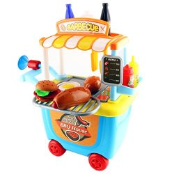 FAVTOY ISLAND – My First Barbecue House 33 Piece Toy Set with Roller Case