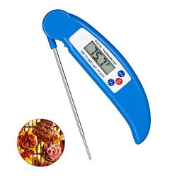 Digital Meat Thermometer Cooking Thermometer Instant Read with Food Safe Probe for Grill Kitchen ...