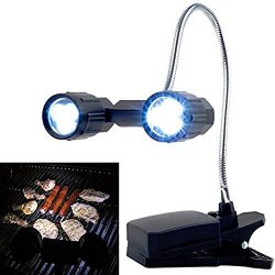 OWIKAR LED Barbeque Grill Light, 360°Rotation Adjustable Outdoor BBQ Clamp Lamp Lighting, Clip O ...