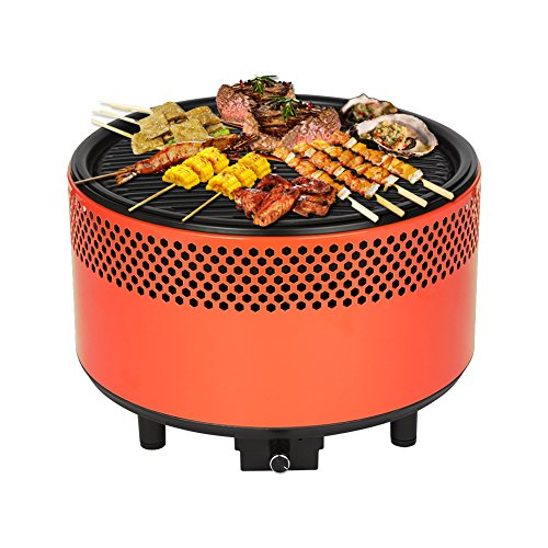Kbabe Portable Charcoal BBQ Smokeless Grill – Ultimate Electric Outdoor Barbecue Grill, Easy-To- ...