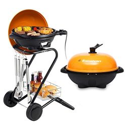 Excelvan Portable 1350W Electric Barbecue Grill with 5 Temperature Settings Ideal for Indoor and ...