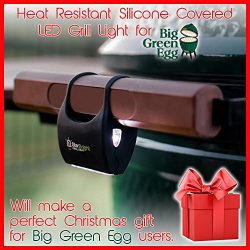 Grill Light for Green Egg – A Heat Resistant Silicone Covered LED Light That Wraps Around  ...