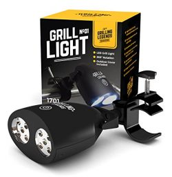 2017 Barbecue Grill Light by Grilling Legends – Touch Sensitive On/Off – 10 Ultra Br ...