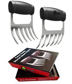 Meat Claws – STAINLESS STEEL PULLED PORK SHREDDERS – BBQ Forks for Shredding Handlin ...