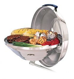Magma Products, A10-114 Marine Kettle Charcoal Grill w / Hinged Lid, Party Size