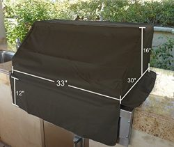 BBQ Built-in Grill Black Cover up to 33″