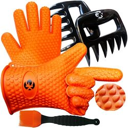 3 x No.1 Set: The No.1 Silicone BBQ /Cooking Gloves Plus The No.1 Meat Shredder Plus No.1 Silico ...