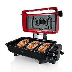 Nutrichef Electric Fish Grill Indoor Cooking – Small Outdoor Backyard BBQ For Fish Steak M ...