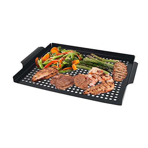 Grilling Grid, Arctic Monsoon, Non-stick Coated Grill Tropper Pan, Thick Gauge Stainless Steel M ...
