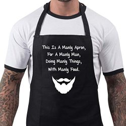 BBQ Apron Funny Aprons This Is a Manly Apron Barbecue Grill Kitchen Gift