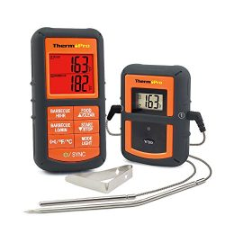 ThermoPro TP-08 Wireless Remote Digital Cooking Meat Thermometer Dual Probe for Grilling Smoker  ...
