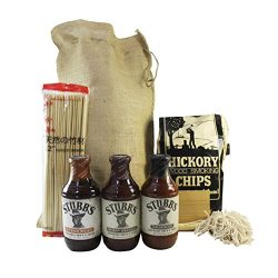 Deluxe Grill Master BBQ Sauce Gift Set Featuring Stubbs Gourmet Barbecue Sauce, Cedar Wood Plank ...