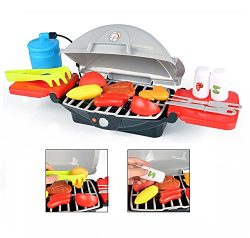 Outdoor Barbeque Portable Gas Grill BBQ Cooking Pretend Play Set