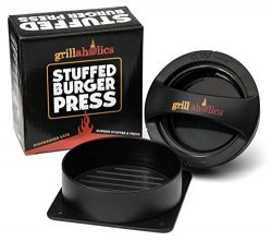 Grillaholics Stuffed Burger Press and Recipe eBook – Extended Warranty – Hamburger P ...