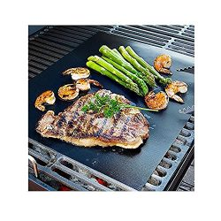 CAILLU BBQ Grill Mat – 17 x 14 inches (Set of 2) – multipurpose can be used for baki ...
