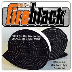 FireBlack34 for Big Green Egg SMALL MEDIUM & MINI 3/4 x 1/8 Black Hi Temp BBQ smoker Gasket  ...