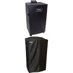 Masterbuilt 20070910 30-Inch Black Electric Digital Smoker, Top Controller and Cover Bundle