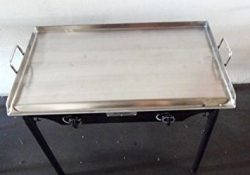 HEAVY 32″ Wide Stainless Steel Flat Top Double Griddle Grill NEW