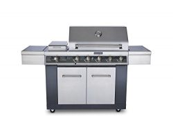 KitchenAid 720-0709C 5 Burner Propane Gas Grill, Stainless