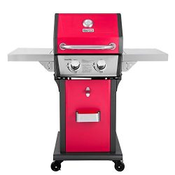 Royal Gourmet Patio Propane Gas Grill, 2 Burner, Red