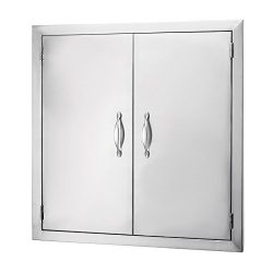 Happybuy BBQ Access Door Double Wall Construction 24W x 24H In. BBQ Island/Outdoor Kitchen Acces ...