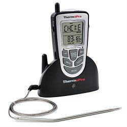 ThermoPro TP09 – Digital Smoker BBQ Oven Grill Food Wireless Cooking Thermometer with Long ...