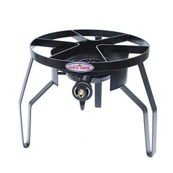 GAS ONE High-Pressure Single Burner Outdoor Stove Propane Gas Cooker with Adjustable 0-20PSI CSA ...