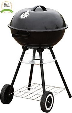 #1 Portable 18″ Charcoal Grill Outdoor Original BBQ Grill Backyard Cooking Stainless Steel ...