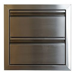 Katzington BBQ Island Double Drawer – Double Walled Construction – 304 Grade Stainle ...