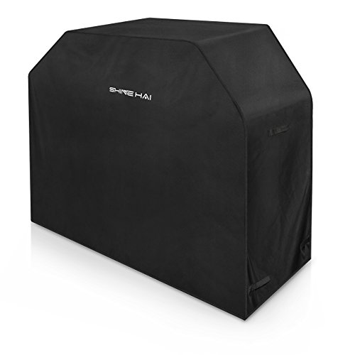 SHINE HAI BBQ Grill Cover, 58-Inch Waterproof 600D Heavy Duty Gas Grill Cover for Weber Brinkman ...