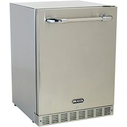 Bull 24-inch Compact Refrigerator – 5.6 Cu. Ft. Built-in / Freestanding Outdoor Stainless  ...